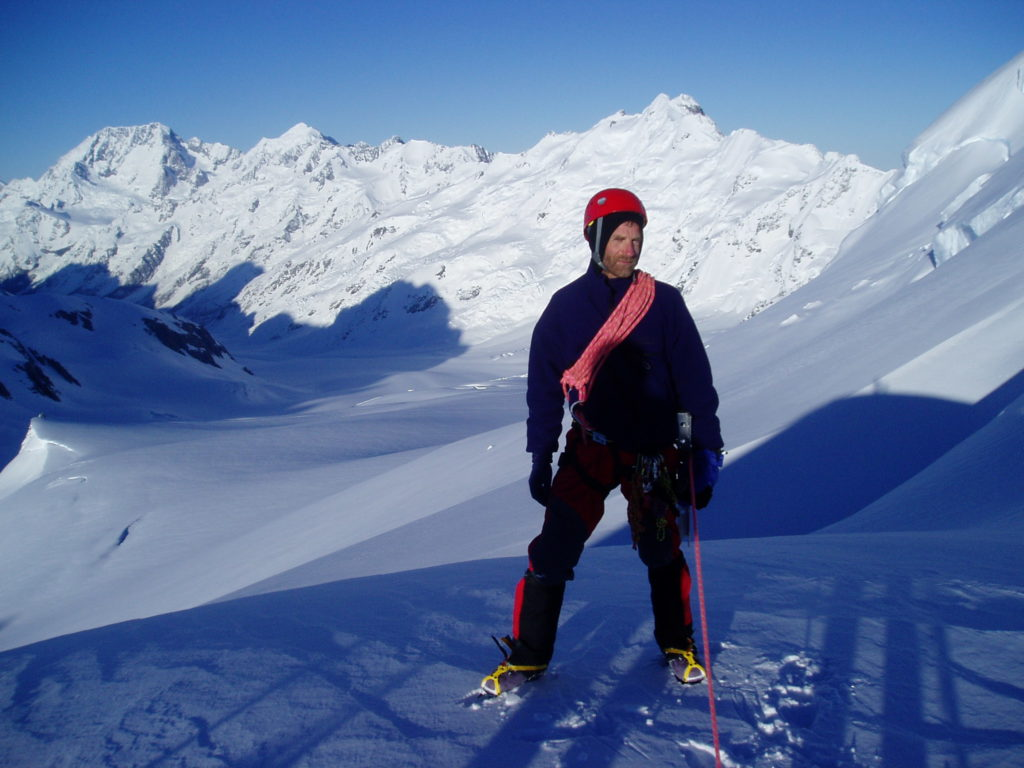 Julian on the Tasman Glacier