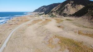 Raised beach ridges at Tora