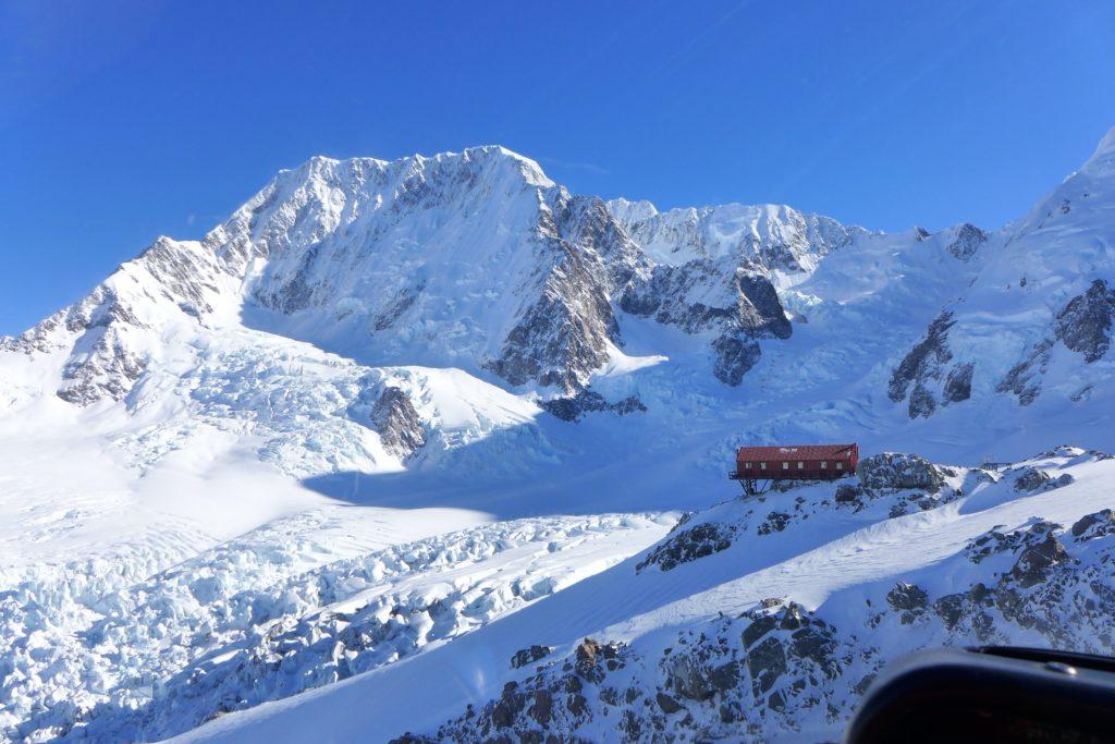 Plateau Hut and Aoraki Mt Cook