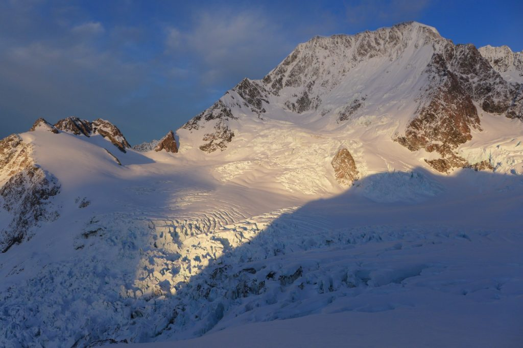 Hochstetter Icefall, Grand Plateau and Aoraki