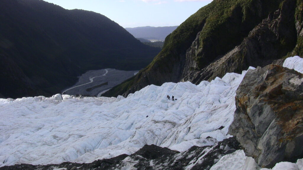 Working on Franz Josef Glacier