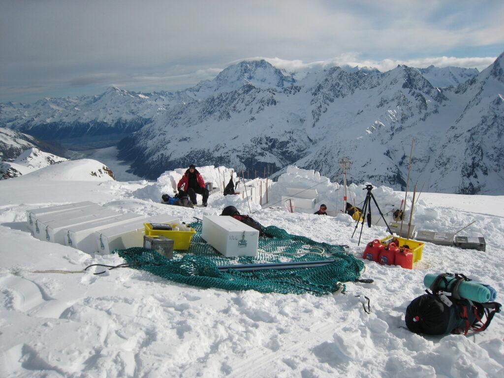 Ice core drill site, Mt Hutton