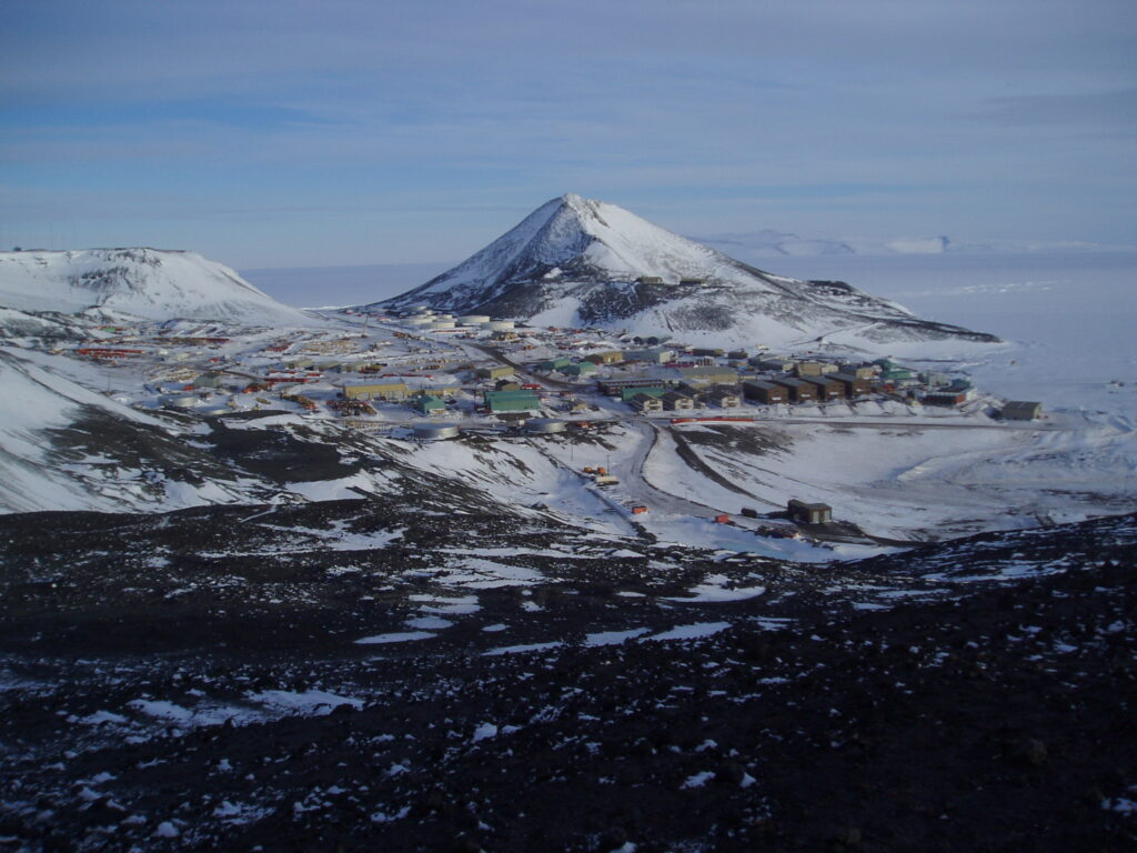 McMurdo Station beneath Observation Hill