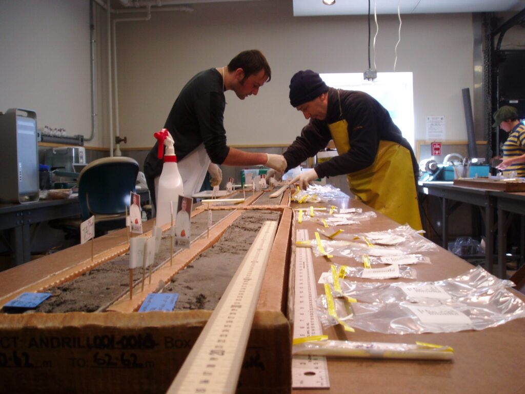 Sampling the ANDRILL sediment core