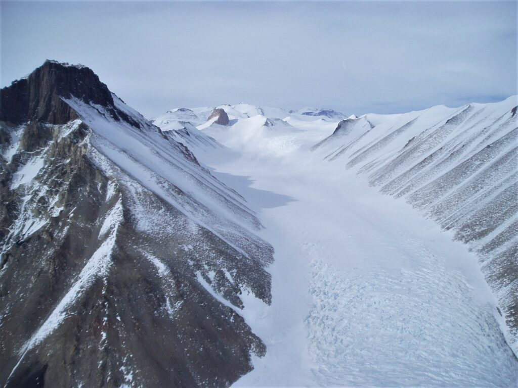 Glacier in the Dry Valleys, Antarctica