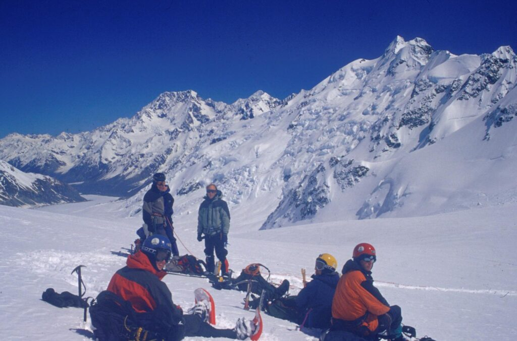 Radar Survey on upper Tasman Glacier neve