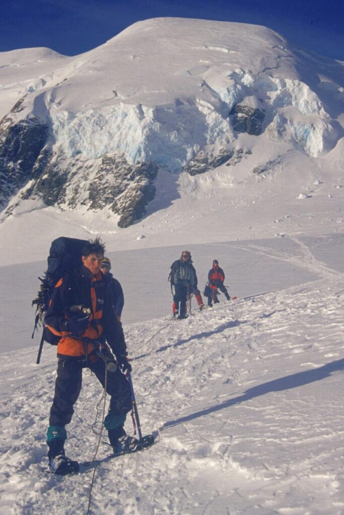 Radar Survey on upper Tasman Glacier neve
