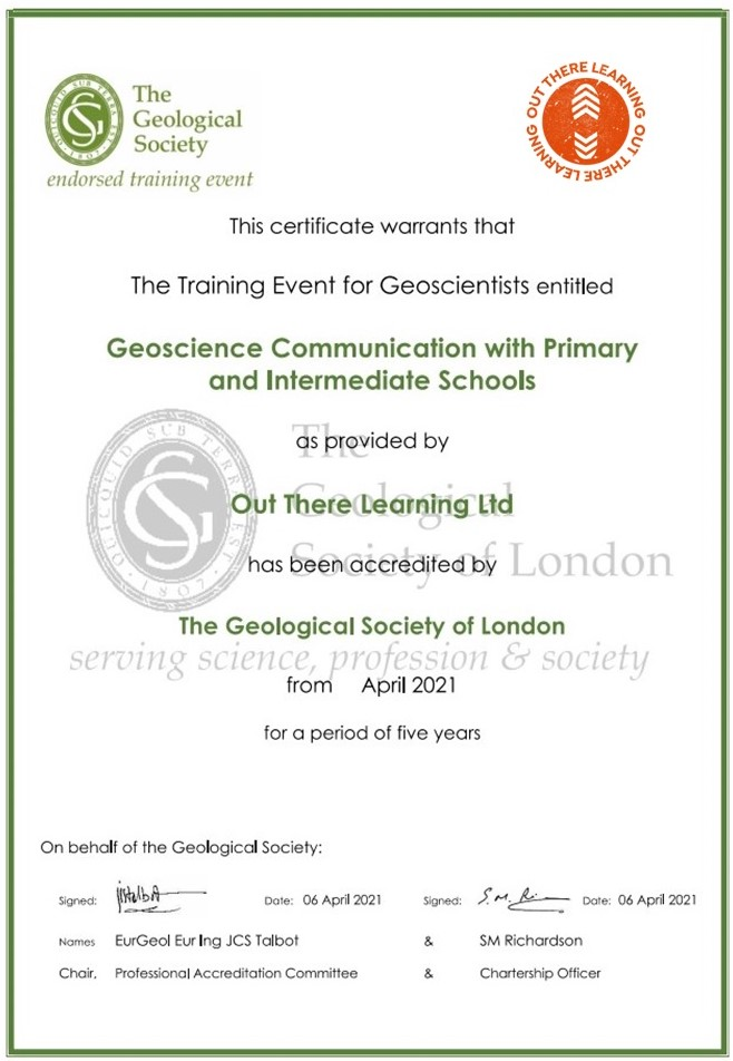 Geological Society of London Endorsement Certificate
